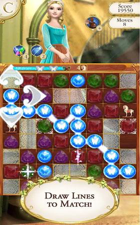 دانلود Cinderella Free Fall 2.10.0 – بازی پازل سیندرلا دیزنی اندروید + مود