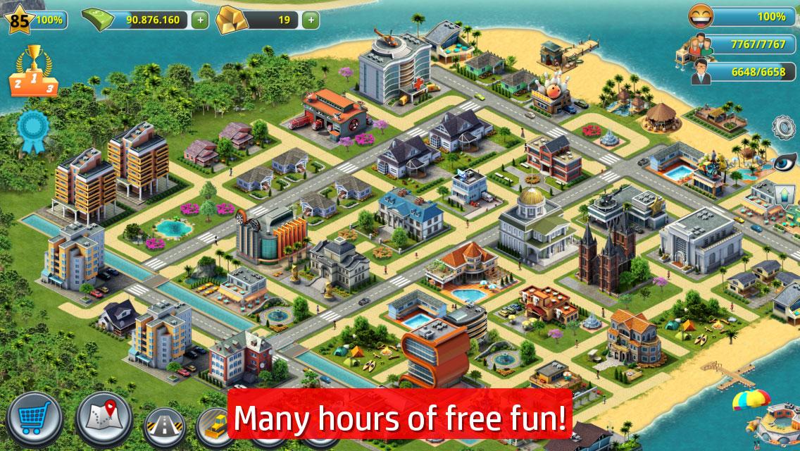 """دانلود City Island 3 – Building Sim 3.2.5 – بازی """"شهری در جزیره 3"""" اندروید + مود"""