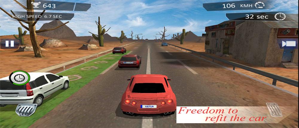 دانلود City Traffic Racer Dash - بازی ماشین سواری در ترافیک اندروید + مود
