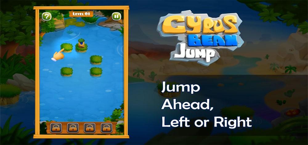 """دانلود Cyrus Bean Jump 1 - بازی پازل جالب """"پرش باقلا"""" اندروید + مود"""