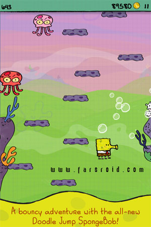 Doodle Jump SpongeBob Android - اندروید جدید