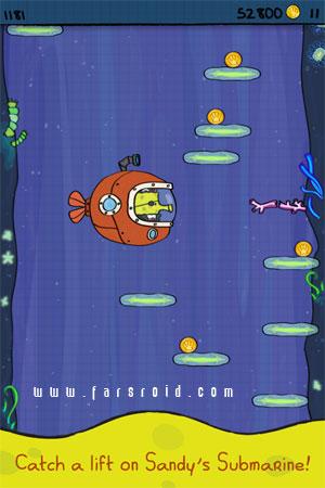 Doodle Jump SpongeBob Android - بازی اندروید