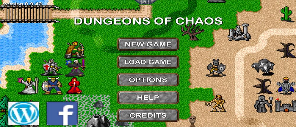"""دانلود Dungeons of Chaos - بازی نقش آفرینی """"آشفتگی سیاه چال"""" اندروید + مود"""