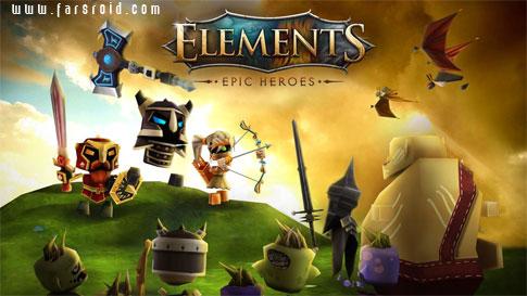 دانلود Elements: Epic Heroes 1.1.2 – بازی گرافیکی قهرمانان حماسه اندروید