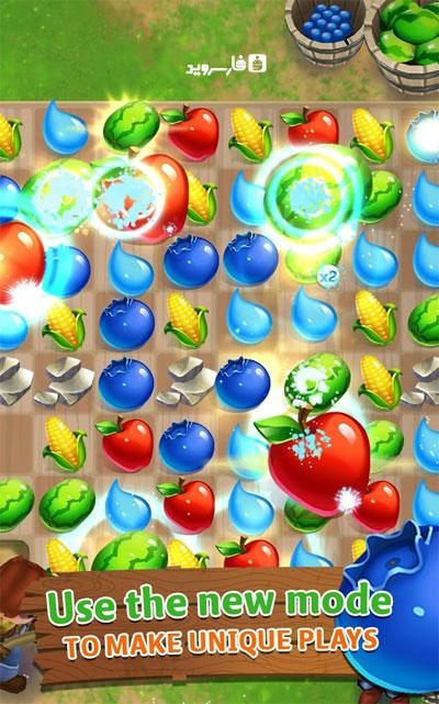 دانلود FarmVille: Harvest Swap 1.0.3490 – بازی پازل مزرعه اندروید + مود