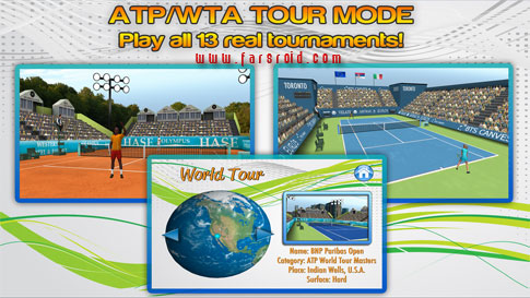 First Person Tennis World Tour Android - بازی ورزشی اندروید