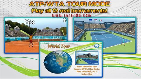 First Person Tennis World Tour Android - بازی ورزشی اندروید