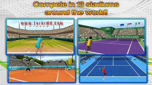 دانلود First Person Tennis World Tour 1.6 - بازی تنیس HD اندروید + دیتا