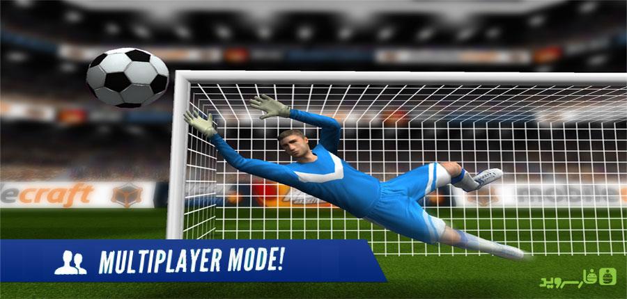 دانلود Flick Shoot US: Multiplayer 1 - بازی ورزشی ضربات آزاد اندروید + مود