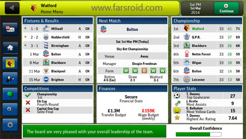 Download Football Manager Handheld 2014 Android Game Apk + Obb