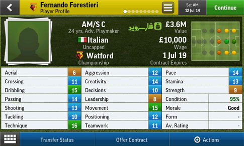 Football Manager Handheld 2015 Android - بازی جدید اندروید