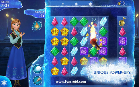 Frozen Free Fall Android بازی اندروید