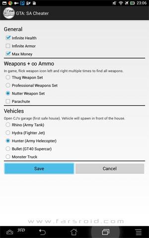 آموزش GTA: San Andreas Cheater اندروید - مرحله ی 2