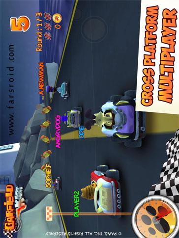 Garfield Kart Android بازی اندروید