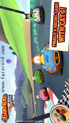 دانلود Garfield Kart 1.1 – بازی زیبای ماشینی گارفیلد اندروید + دیتا