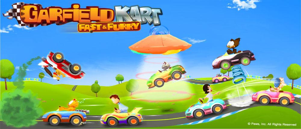 دانلود Garfield Kart Fast & Furry - بازی گارفیلد اندروید + دیتا