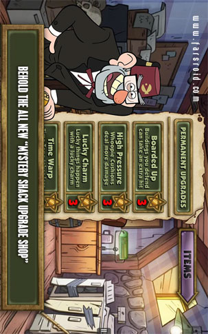 Gravity Falls Mystery Attack - بازی استراتژیک اندروید