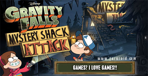 دانلود Gravity Falls Mystery Attack - بازی آبشار جاذبه اندروید