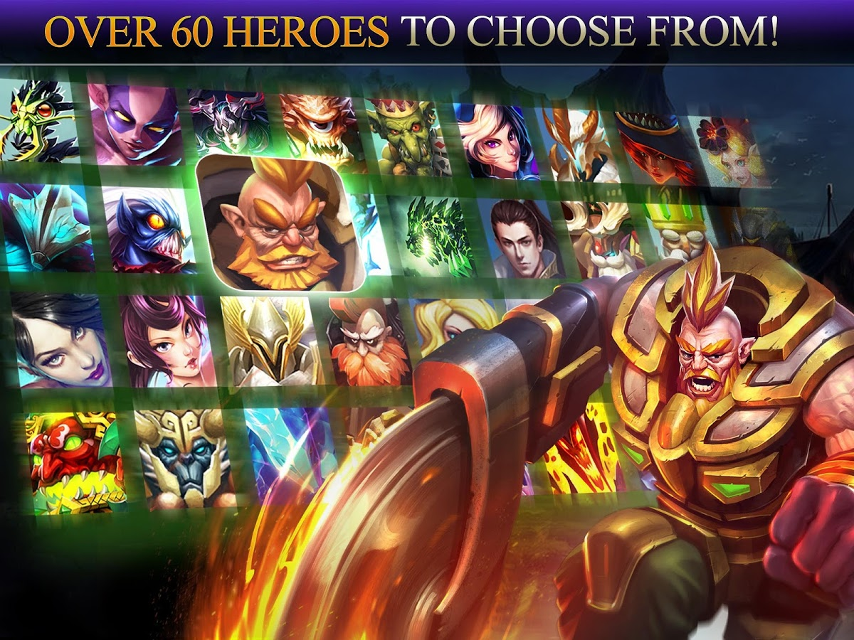 Heroes of Order & Chaos Android بازی اندروید