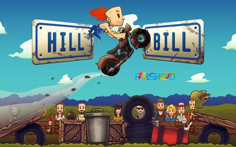 دانلود Hill Bill - بازی موتور سواری مهیج اندروید + دیتا