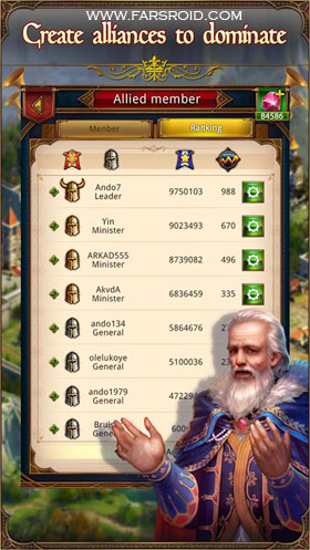 King's Empire: Power and Glory Android - بازی جدید اندروید