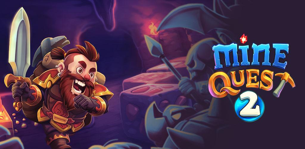 دانلود Mine Quest 2 - بازی ماجراجویی های معدن 2 اندروید + مود