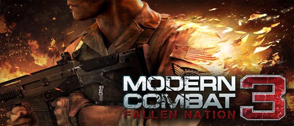 دانلود Modern Combat 3: Fallen Nation - مدرن کامبت 3 اندروید + دیتا