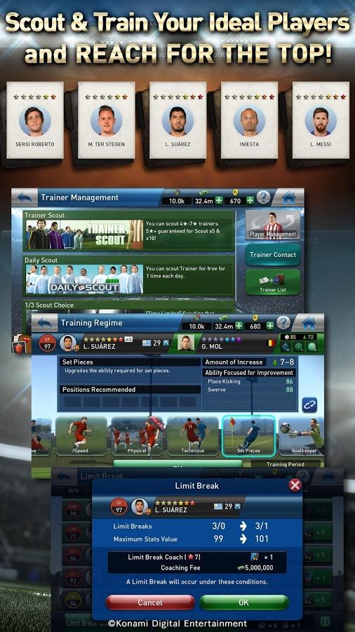 PES Club Manager 4 دانلود PES Club Manager 1.6.1 – بازی سرمربی فوتبال آندروید + دیتا