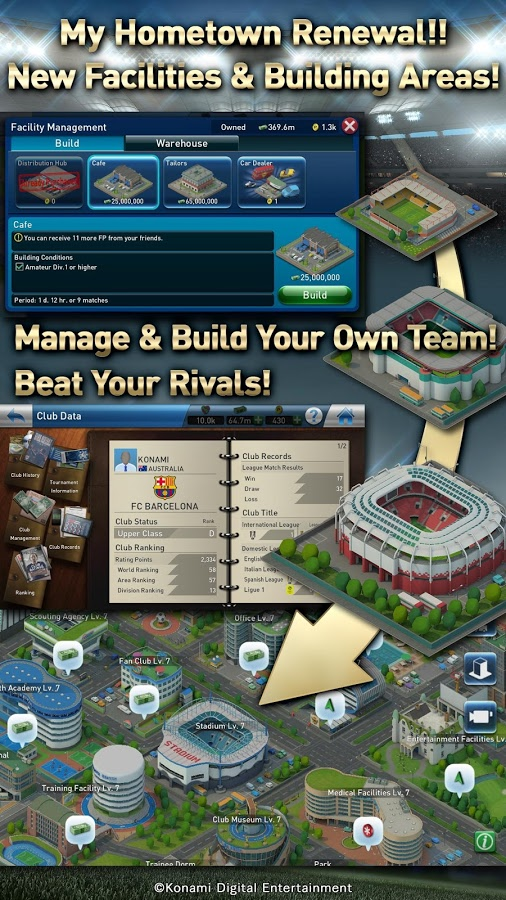 Download PES Club Manager Android Apk + Obb SD Game- Google Play
