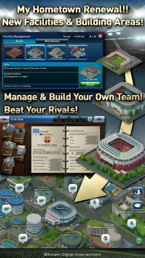 PES Club Manager 5 دانلود PES Club Manager 1.6.1 – بازی سرمربی فوتبال آندروید + دیتا