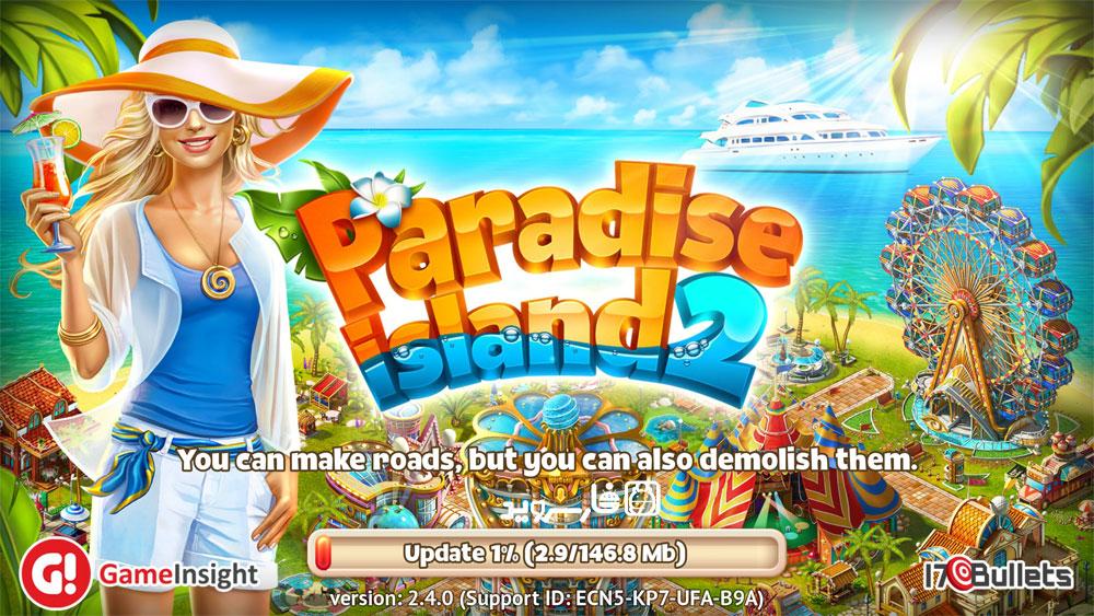 همانطور که گفته شد بازی Paradise Island 2 دارای دیتا است و در اجرای اولیه دانلود می شود ؛ تصویر زیر گویای این حقیقت می باشید :