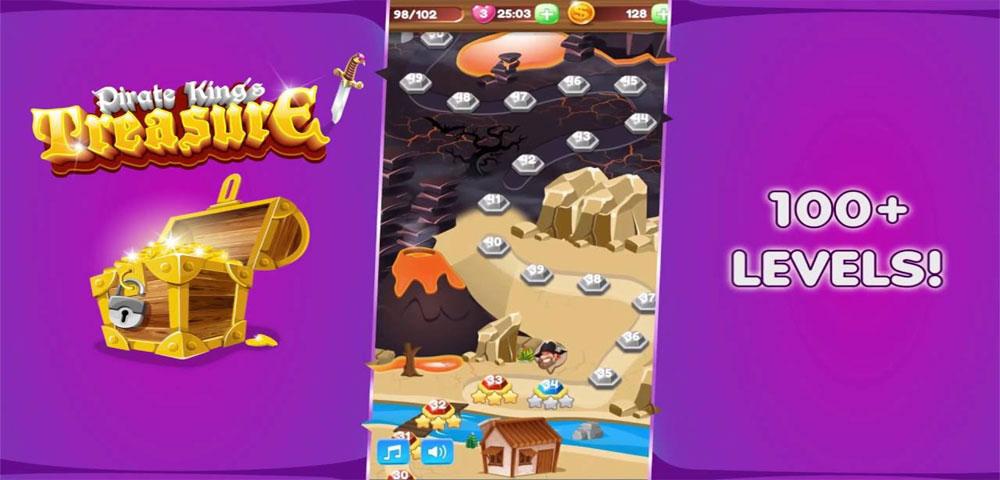 """دانلود Pirate King's Treasure - بازی پازل """"دزد ثروتِ پادشاه"""" اندروید + مود"""