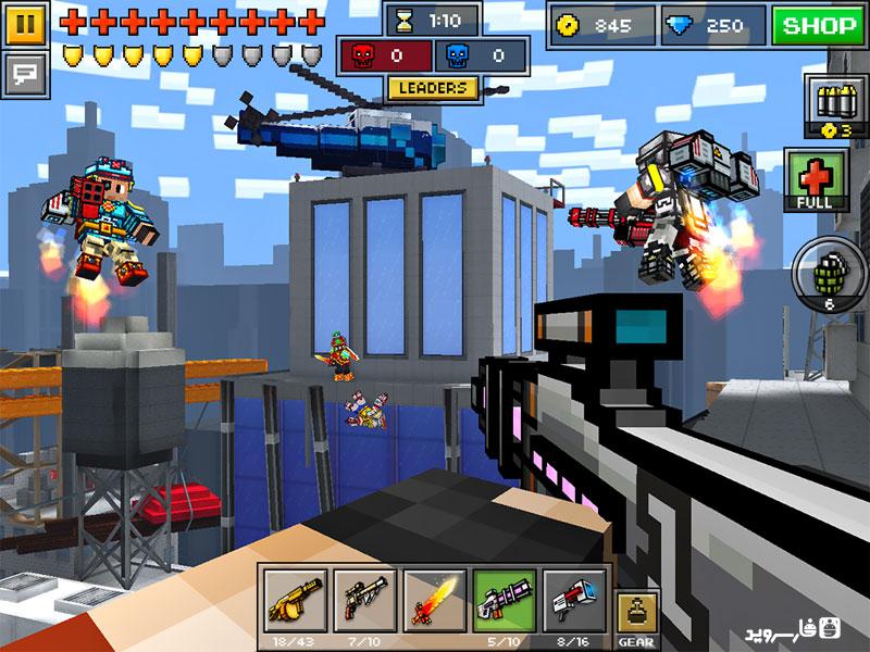 دانلود Pixel Gun 3D 12.5.2 - بازی تفنگداران پیکسلی اندروید + مود + ...Pixel Gun 3D Android