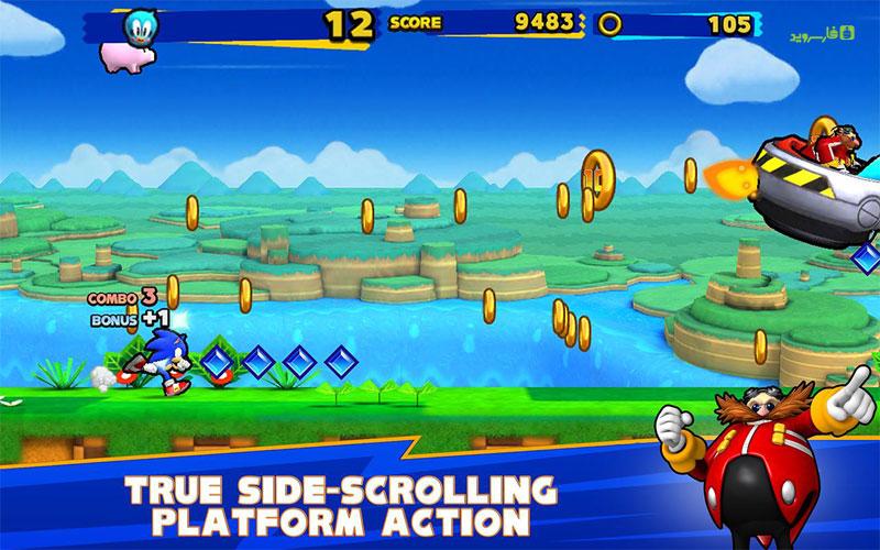 دانلود SONIC RUNNERS 2.0.3 – بازی سونیک دونده اندروید + مود