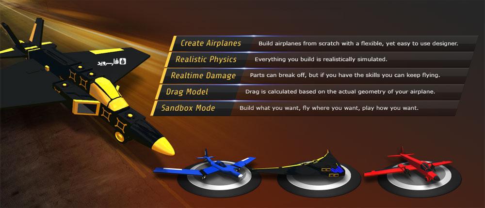 دانلود SimplePlanes - بازی طراحی و شبیه سازی هواپیما اندروید !