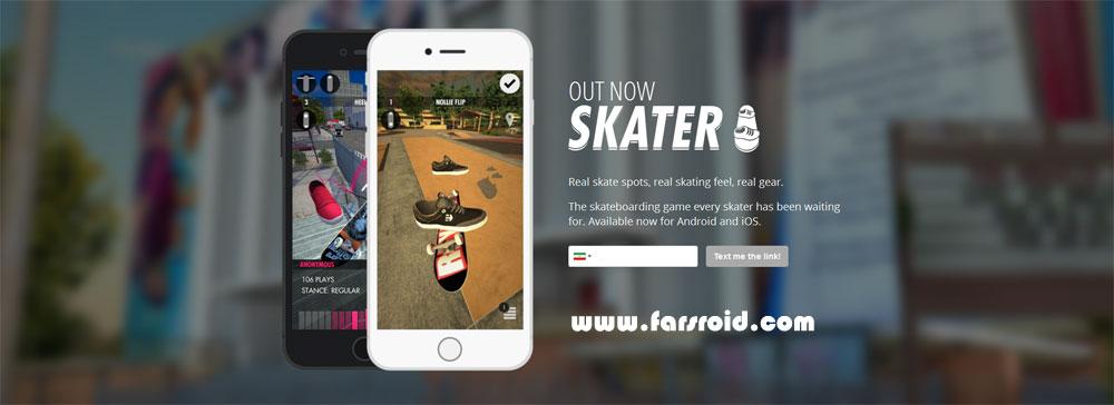 دانلود Skater - بازی فوق العاده اسکیت سواری اندروید + مود + دیتا