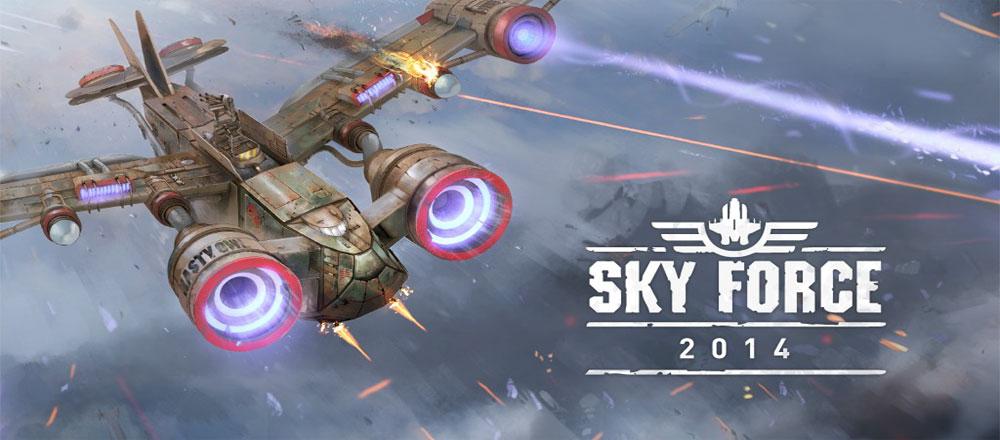 دانلود Sky Force 2014 1.38 – بازی نیروی آسمان 2014 اندروید + مود/دیتا
