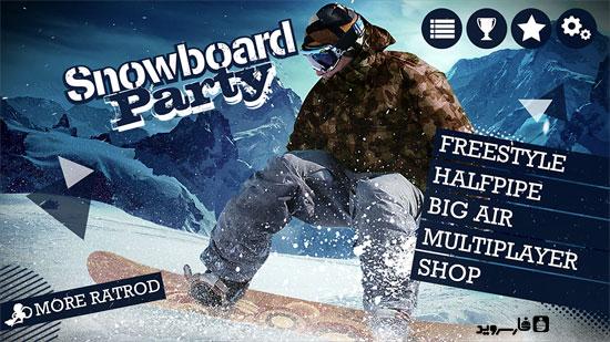 دانلود Snowboard Party - بازی اسنوبورد HD اندروید + دیتا