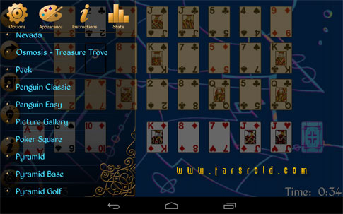 Solitaire MegaPack Android - بازی اندروید