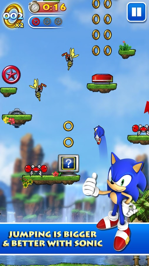 Sonic Jump Android Game بازی اندروید