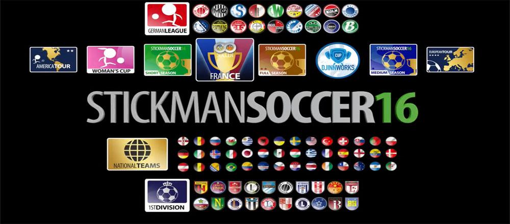 دانلود Stickman Soccer 2016 - بازی فوتبال آدمک ها 2016 اندروید + مود