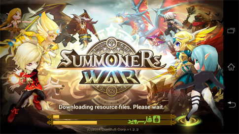 Download the Summoners War: Sky Arena Android game data using mobile phone Internet