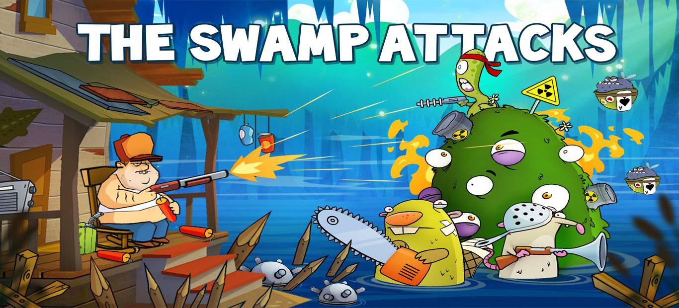 """دانلود Swamp Attack - بازی محبوب و عالی """"حمله مرداب"""" اندروید + مود"""