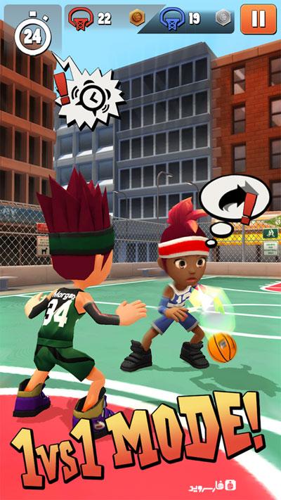 دانلود Swipe Basketball 2 1.1.7 – بازی بسکتبال سوایپ 2 اندروید + مود + دیتا