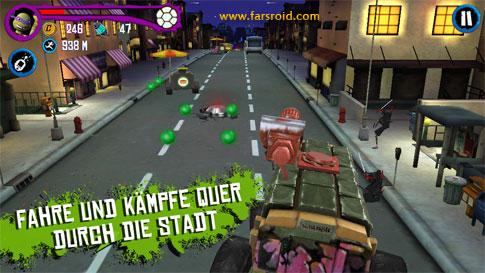 TMNT: ROOFTOP RUN Android - بازی جدید اندروید دیتادار