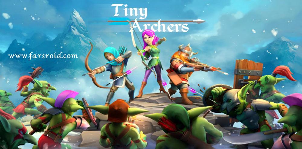 دانلود Tiny Archers 1.33.05.0 بازی اکشن خاص کمانداران کوچک اندروید + مود