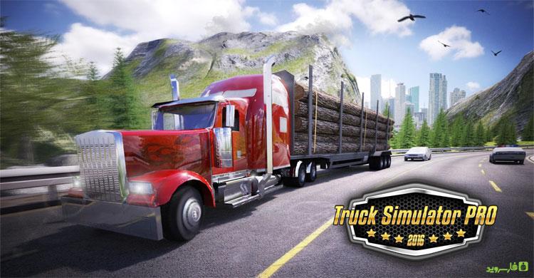 دانلود Truck Simulator PRO 2016 - بازی شبیه ساز کامیون 2016 اندروید + مود + دیتا