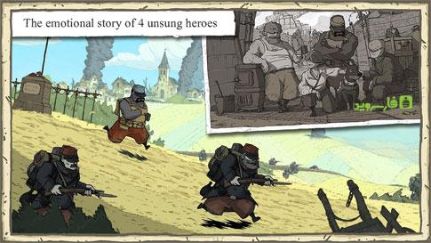 دانلود Valiant Hearts: The Great War 1.0.4 – بازی شجاع دل: جنگ بزرگ اندروید + دیتا