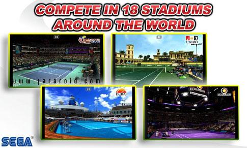 Virtua Tennis Challenge Android - بازی تنیس سگا اندروید