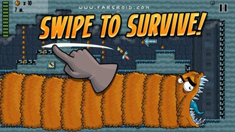 دانلود Worm Run - بازی سرگرم کننده فرار از کرم فضایی اندروید !